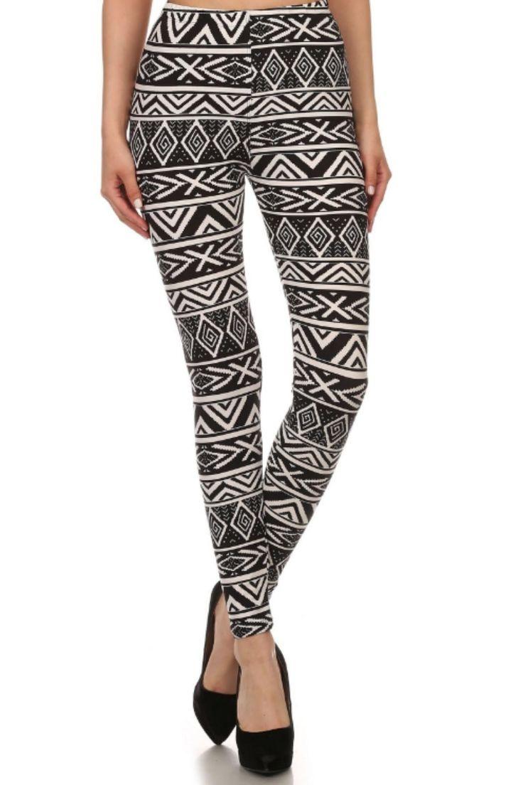 Aztec print, full length, slim fit leggings with elastic waist.   Aztec Print Leggings by Love It. Clothing - Bottoms - Pants & Leggings - Leggings Kentucky