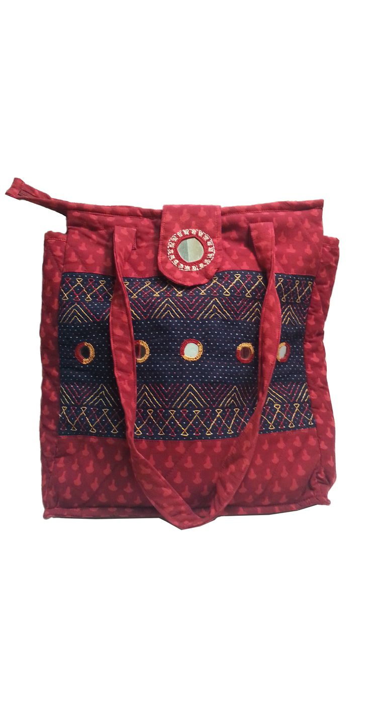 Sabala Handicrafts Twinkling Red Bag $24.99
