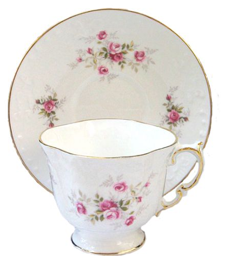 scatter rose teacup and saucer