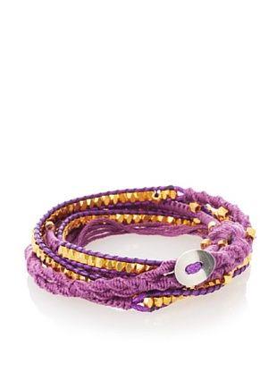 OK 1984 Purple Five-Layer Thread Wrap Bracelet