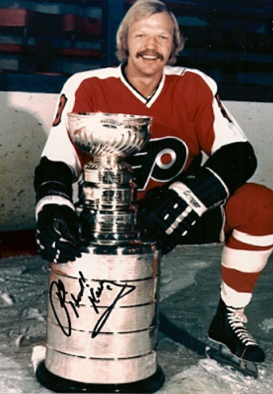 """Bob """"Hound Dog"""" Kelly - Played 12 seasons in the National Hockey League (NHL) for the Philadelphia Flyers and Washington Capitals. Member of the famous """"Broad Street Bullies"""" and helped guide the Flyers to their two consecutive Stanley Cup championships in 1974 and 1975"""
