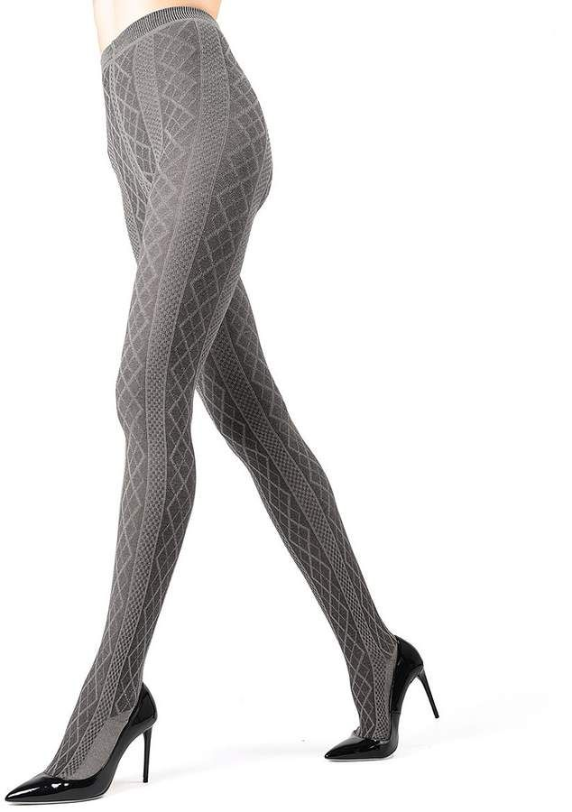 0029024c64f Me Moi Heather Gray Diamond Sweater Tights - Women  Gray Heather Moi ...
