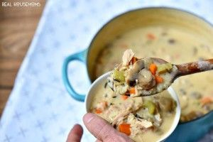 Creamy Wild Rice and Chicken Soup