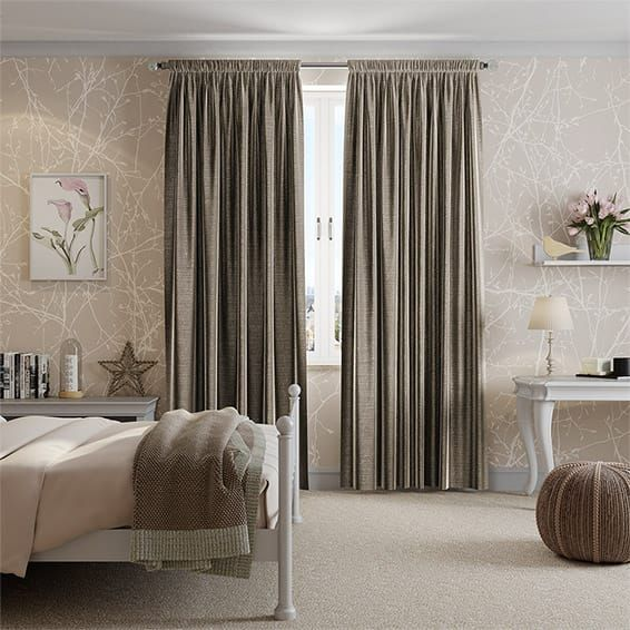 Chenille Silver Mink Curtains