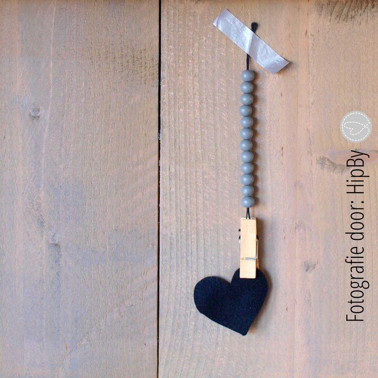 Korte woonketting...DIY tutorial op www.hipby.nl