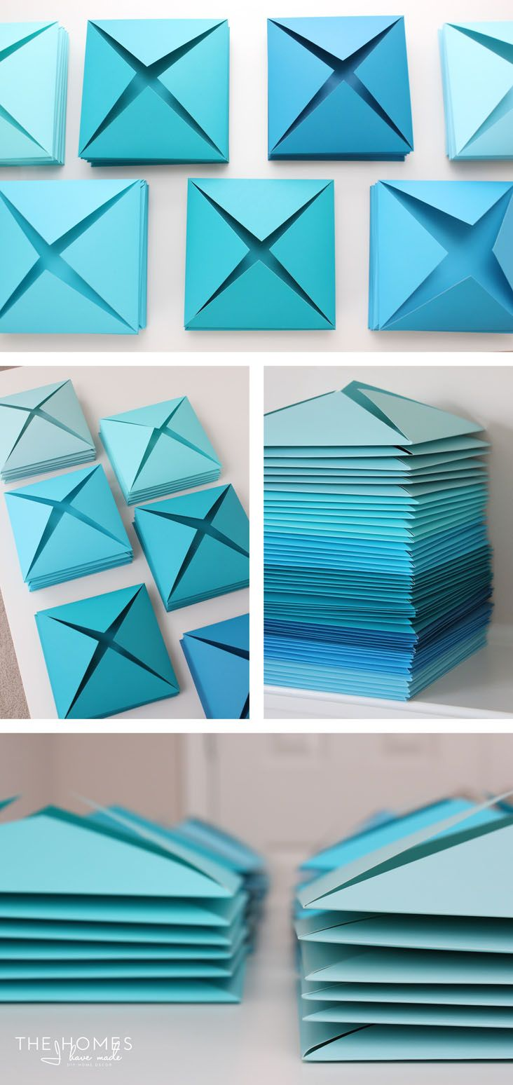 Easy Wall Decoration With Paper : Best ideas about origami wall art on paper