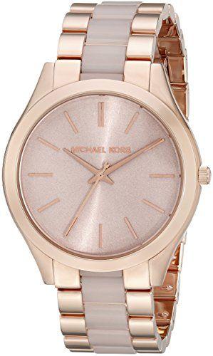 Michael Kors Women's Slim Runway Rose Gold-Tone Watch MK4294 ** You can get ...