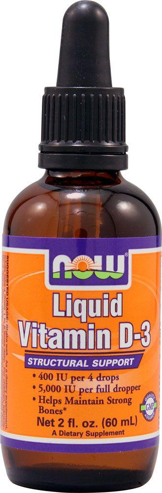 NOW Foods Liquid Vitamin D-3 $6.29