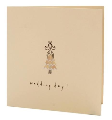 wedding day card made with pencil shavings by ruth jackson at iapetus.co.uk