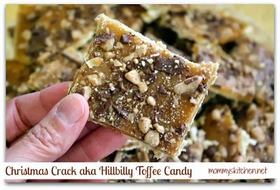 Mommy's Kitchen: Saltine Cracker Candy {Christmas Crack or Hillbilly Toffee Candy}  #Christmas @candy