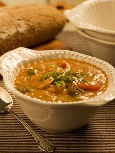 Louisiana Shrimp Gumbo- my husband is full blooded CAJUN- he cooks his gumbo like his Mother and Grandmother did- it is soooooo good cher'! Jeri D.!