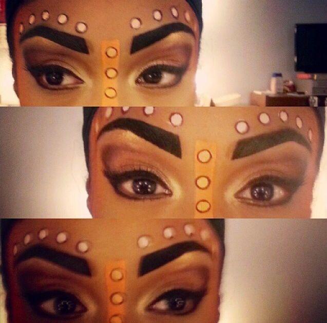 Broadway Nala's makeup!