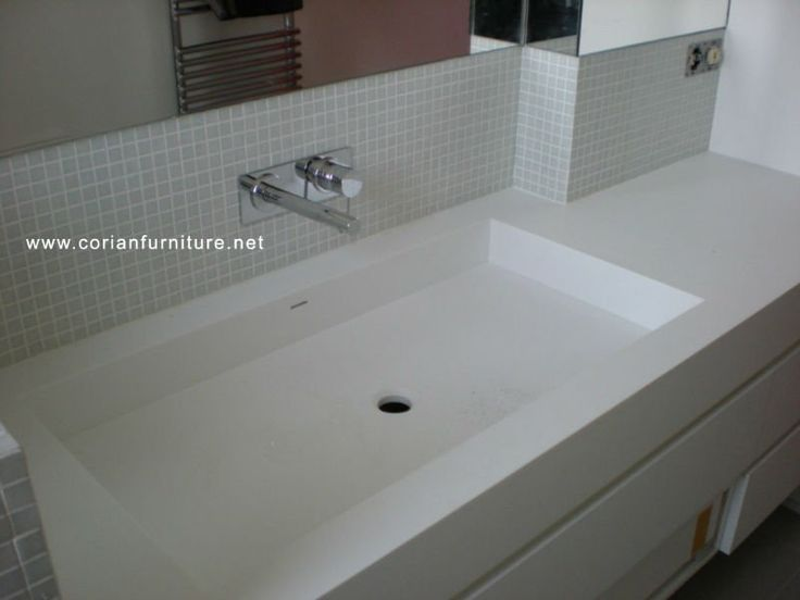 Corian Integrated Bathroom Sinks Acrylic Solid Surface Basin Sink View