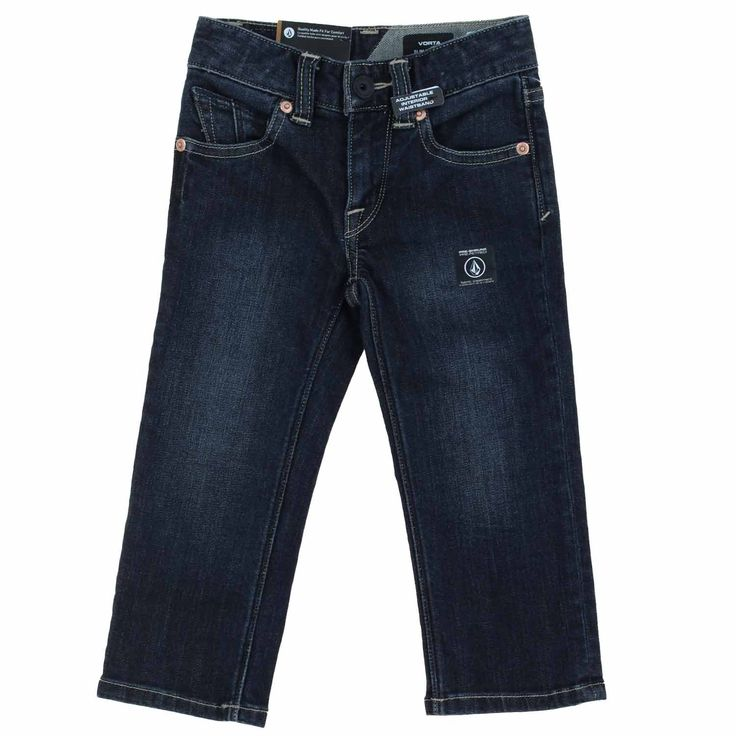 Volcom Boys Vorta Form Denim Slim Straight Toddler Jeans (Used Blue, 2T)