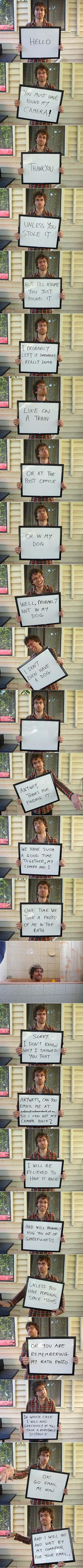 This did make me smile.