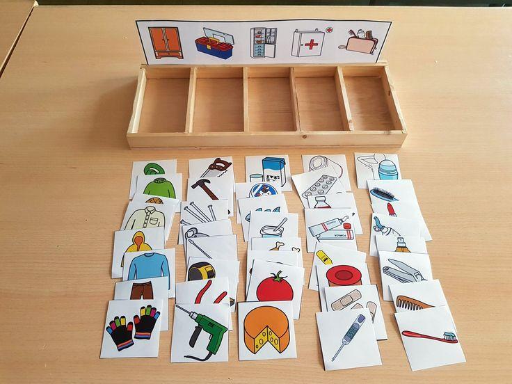 Materiales TEACCH: Caja de clasificación – Dónde…