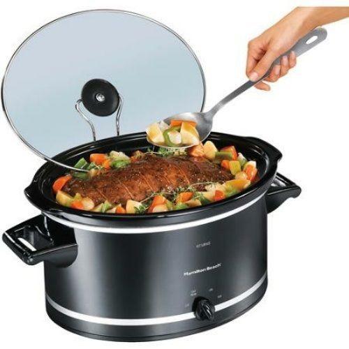 8 Qt Large Slow Cooker Lodge Crock Pot Manual Rice Hamilton Beach Kitchen Set #HBeach