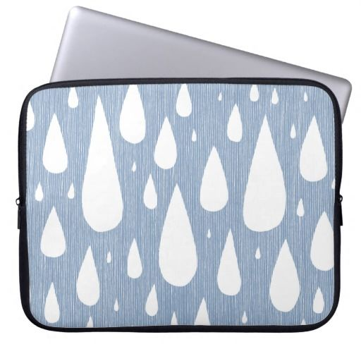 Rain Rain Rain laptop sleeve