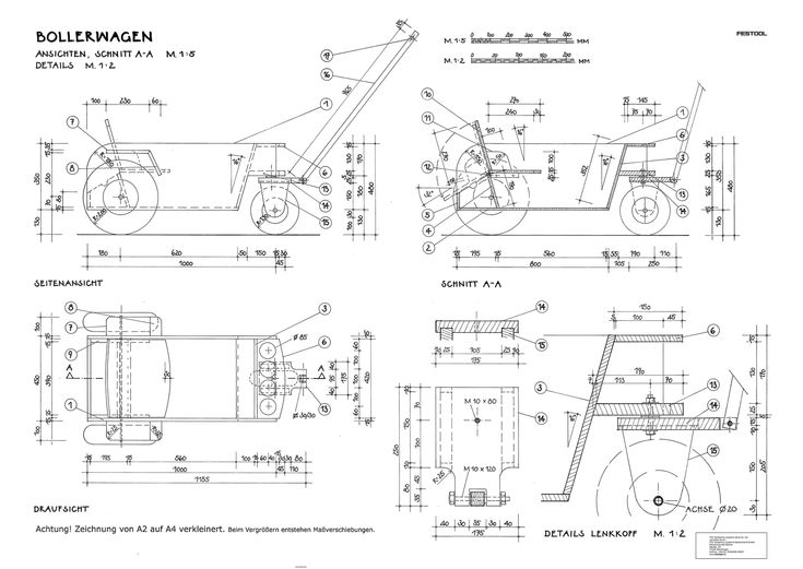 Vatertag Bollerwagen Bauplan cart plans