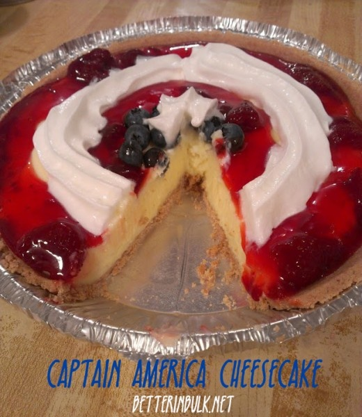 Captain America Cheesecake - perfect way to finish off an Avengers family fun night! #cbias #marvelavengersWMT