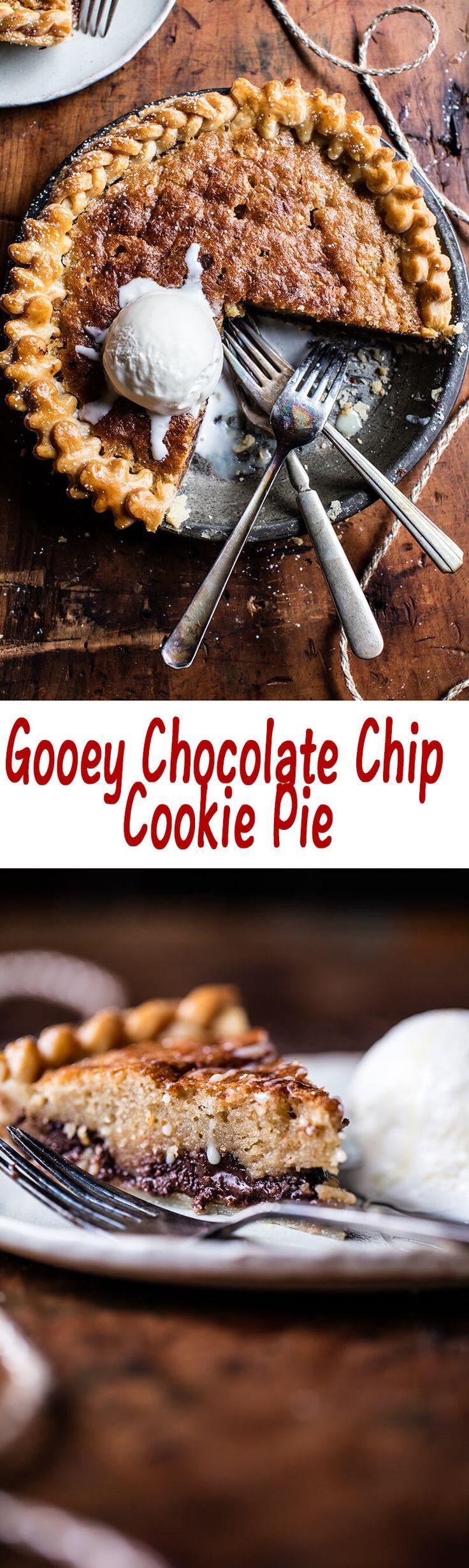 Gooey Chocolate Chip Cookie Pie | halfbakedharvest.com @Half Baked Harvest