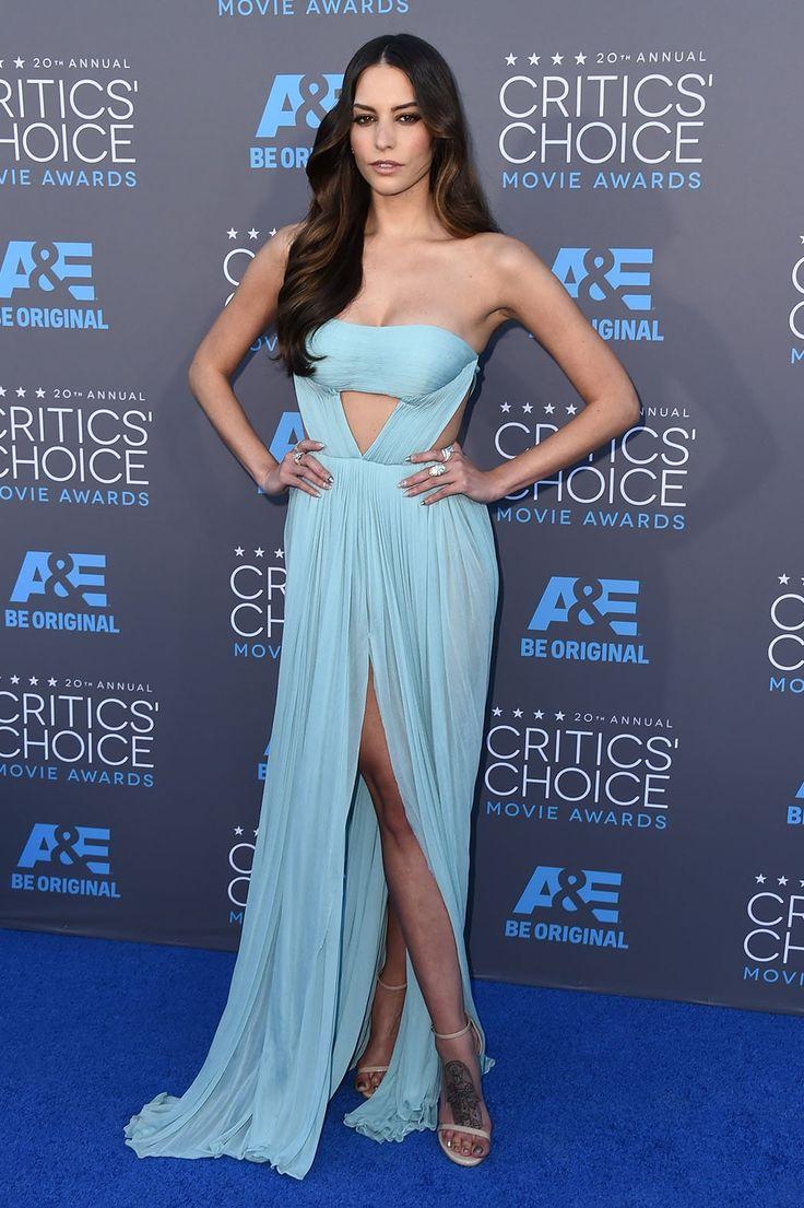 Critics Choice Awards 2015 - Genesis Rodriguez in Reem Acra