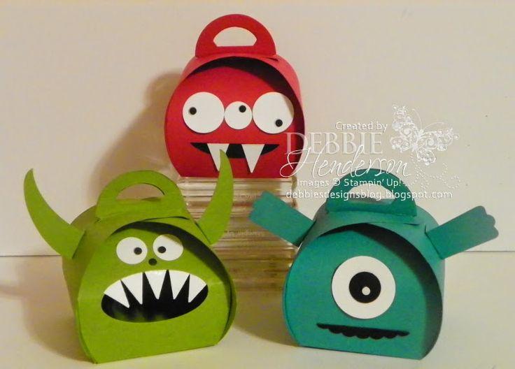 Monster Curvy Keepsake Boxes. Stampin' Up! Debbie Henderson, Debbie's Designs.
