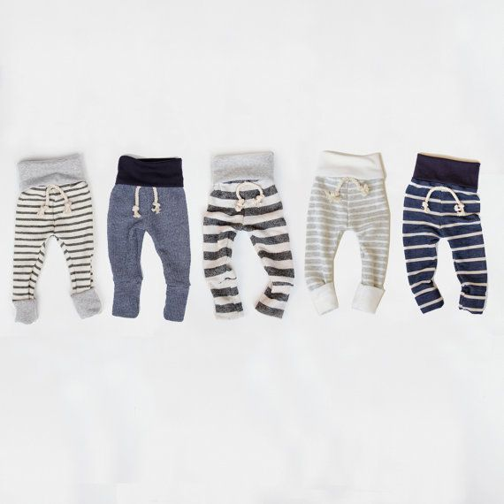 skinny sweats -- baby/toddler sweatpants on Etsy. These are the CUTEST little baby sweats :)