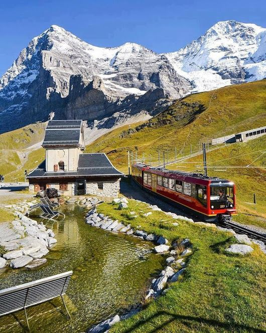 Kleine Scheidegg, Switzerland  **I have been right here! Amazing experience, hiking down from this Alpine spot, above tree line.