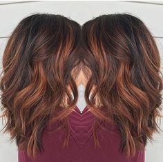 Red brown balayage by Rebecca at Avante Salon and Spa, West Chester PA