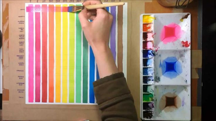 Make a watercolor chart to see how your colors work together. Video by Art Food Kitty - Kelly Eddington