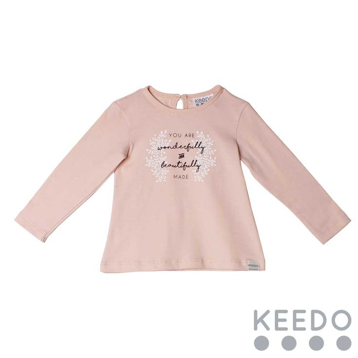 Love tee - the pale blush colour is soft and gentle to compliment every little girl