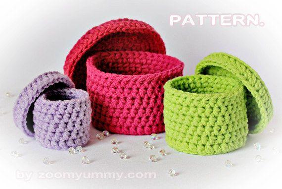 Crochet Pattern uncinetto scatole modello n. 022 di ZoomYummy