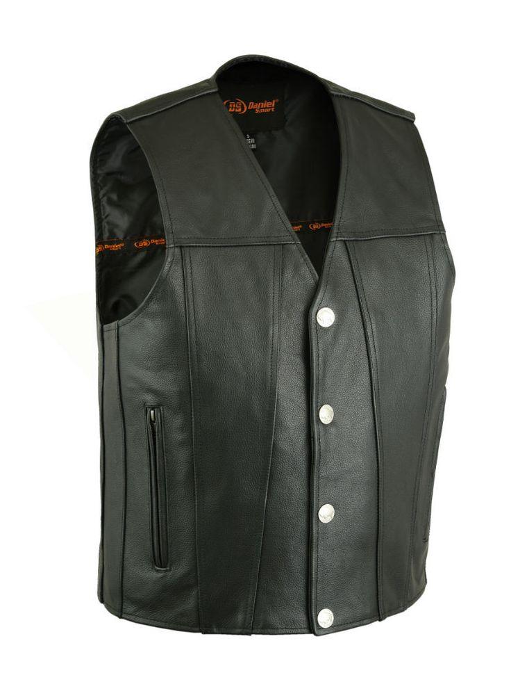 DS125 Men's Single Back Panel Concealed Carry Vest (Buffalo Nickel Head Snaps)