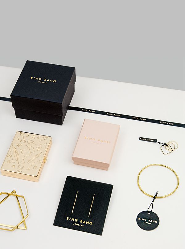Verena Michelitsch is the designer behind this jewelry branding for Bing Bang. The jewelry brand is collaborating with Urban Outfitters, Pape