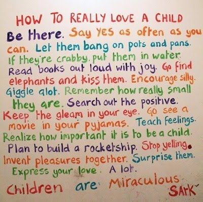 How to Love a Child by Sark by Bella Luna Toys, via Flickr