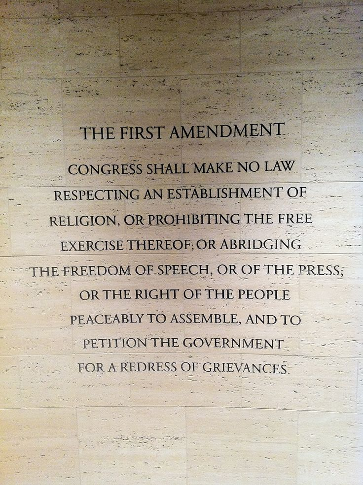 an analysis of first amendment of the united states constitution