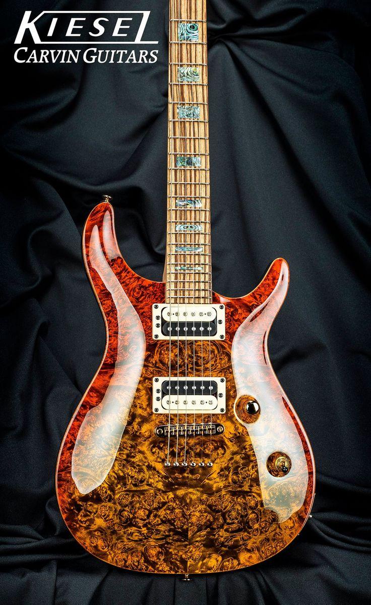 kiesel carvin custom burl with burst finish and contrasting fingerboard guitarness guitar. Black Bedroom Furniture Sets. Home Design Ideas