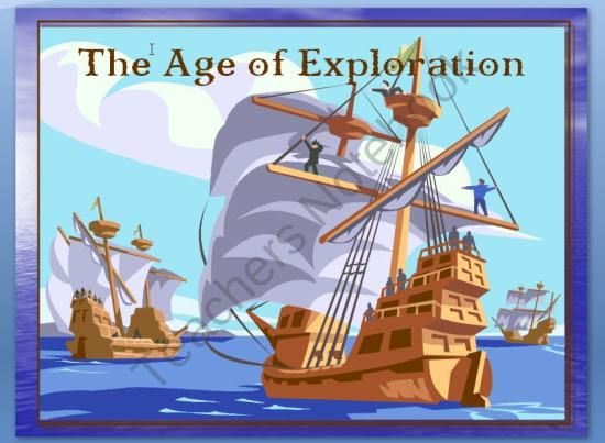 """Power Point 86 slide Age of Exploration from Mrs. Mcs Shop on TeachersNotebook.com (102 pages)  - The Age of Exploration is a 102 slide PowerPoint Presentation that presents pairs of slides—answers first—with the question on the second slide like this... He """"discovered"""" a place inhabited by 20 million or more natives in 1492. Who was Christopher Colum"""