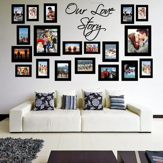 Living Room Decorating Ideas Family Wall Decor First Apartment Decorating Frames On Wall