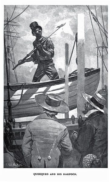 Queequeg: Novel Moby Dick, Whaler Moby Dick, Ship, Illustration, Books Deeply, Herman Melville, Character