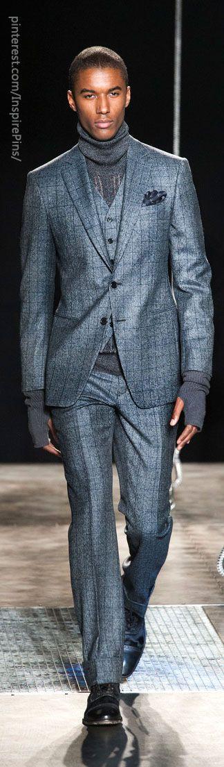 Beautiful color, weave, and textile. John Varvatos Men's A/W '13