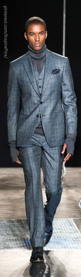 Beautiful color, weave, and textile. John Varvatos Men's A/W '13
