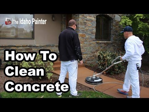 63 best exterior house painting tips images on pinterest for Best way to clean concrete