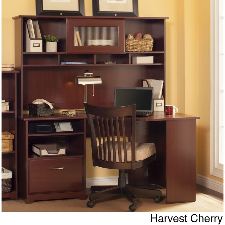 Bush Furniture Cabot Collection Corner Desk with Hutch