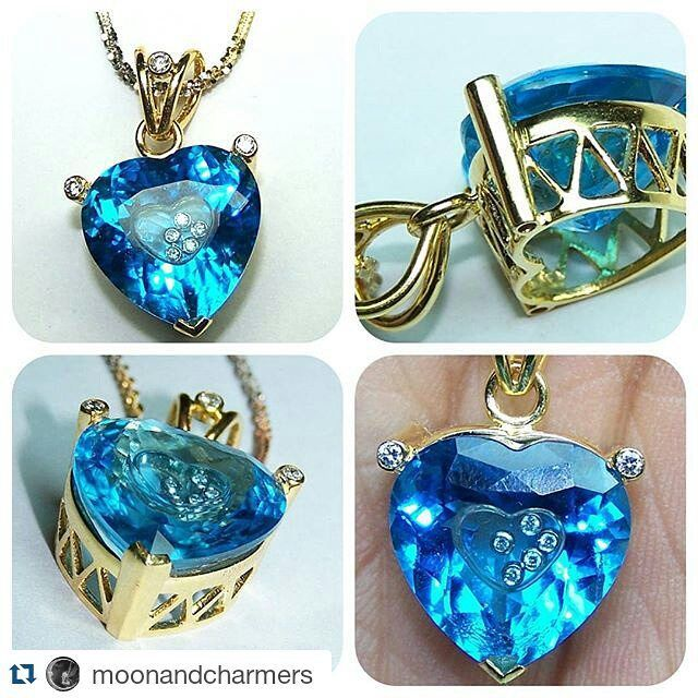#Repost @moonandcharmers  Amazing Floating Diamond Swiss Blue Topaz Heart Diamond Tip Pendant in 18 K Yellow Gold  #swissbluetopaz #bluetopazpendant #floatingdiamond #uniquependant #dancingdiamondpendant #finejewelry #pendant #golddiamondpendant #instaluxe #bluetopazheart #topaz #bluetopaz #20likes #like4like #picoftheday #handmadejewelry #customizedjewelry #customjewelry #jewelry #jewelrydesigner #jewelrysupply #moonandcharmers #instajewel #jewel