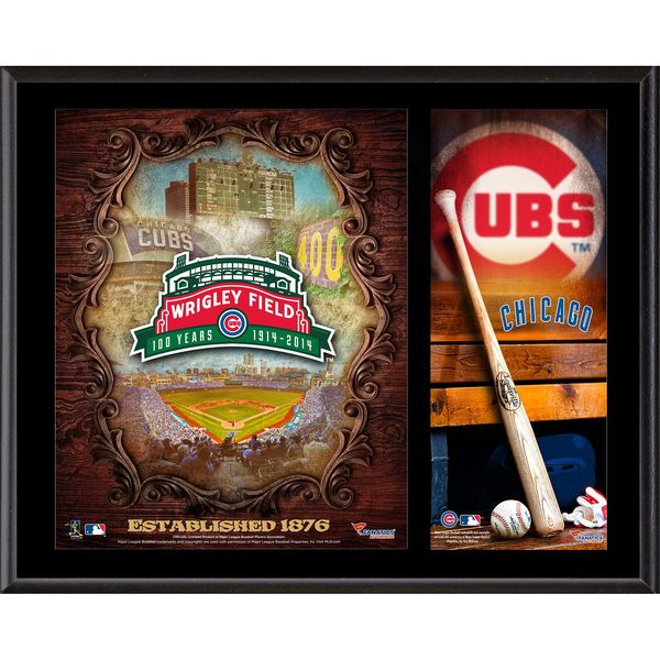 """Chicago Cubs Fanatics Authentic 12"""" x 15"""" Wrigley Field 100th Anniversary Sublimated Plaque - $49.99"""