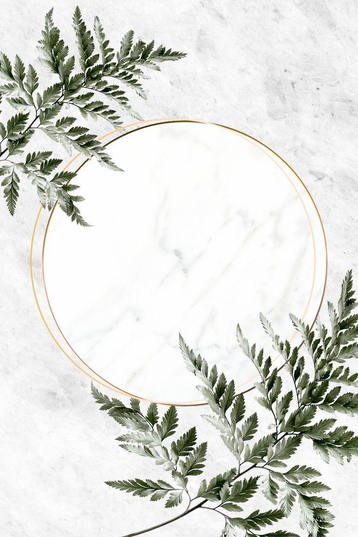 Runder goldener Rahmen auf einem Marmorhintergrund…