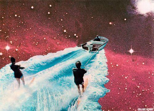 Astro-nautique / collage Herbot 2014