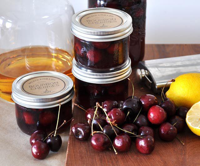 bourbon vanilla soaked cherries